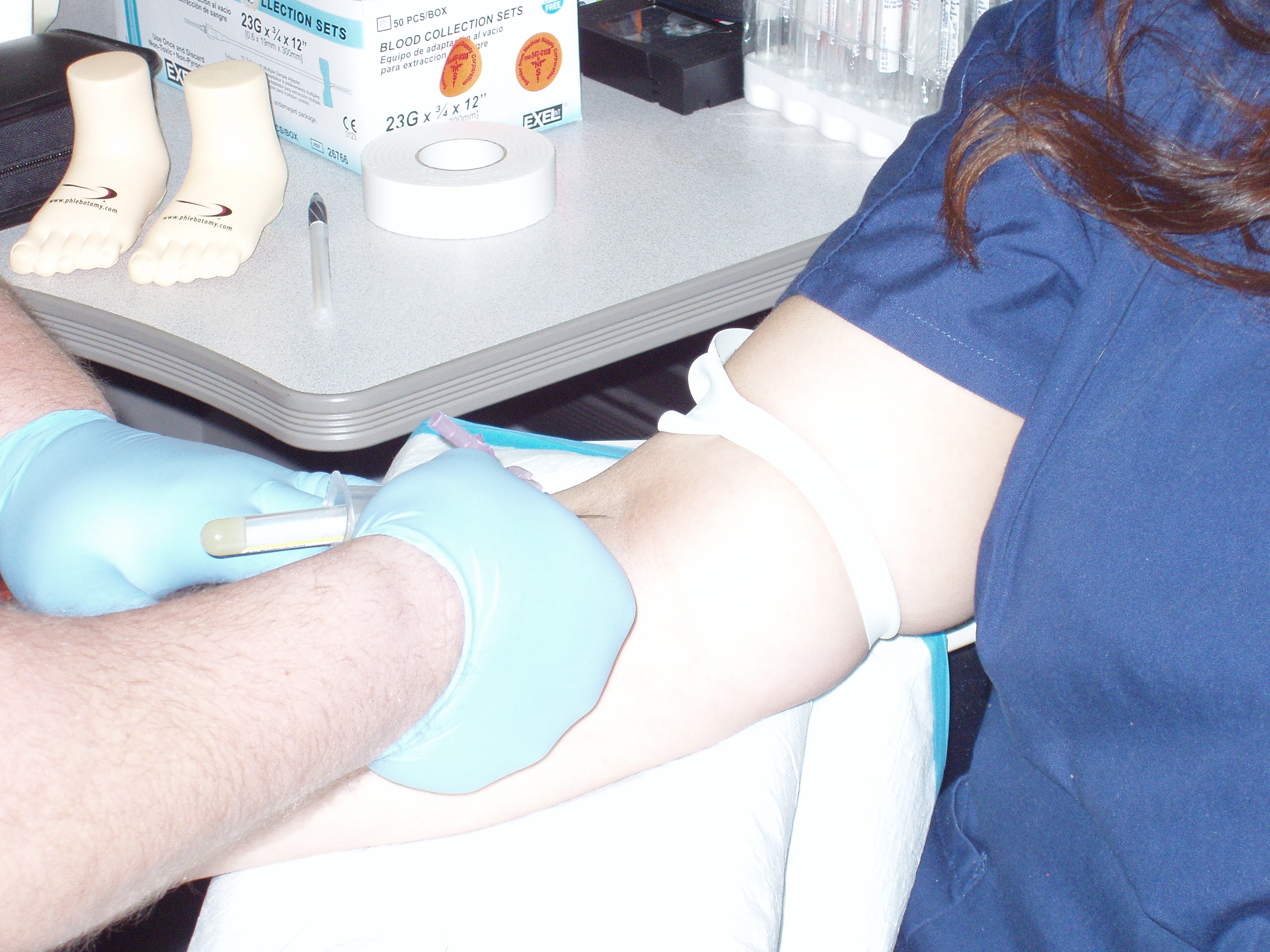Phlebotomy Students are able to earn 25 hours of venipuncture experience.