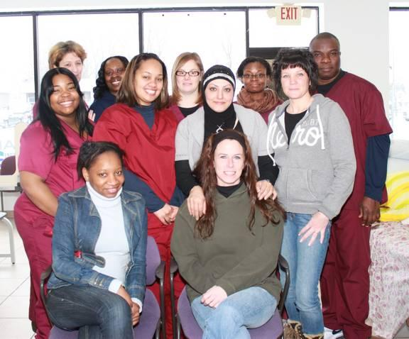 This wonderful group of students graduated with high marks from the program at Phlebotomy Career Training