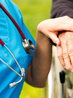 Professional help for elderly.